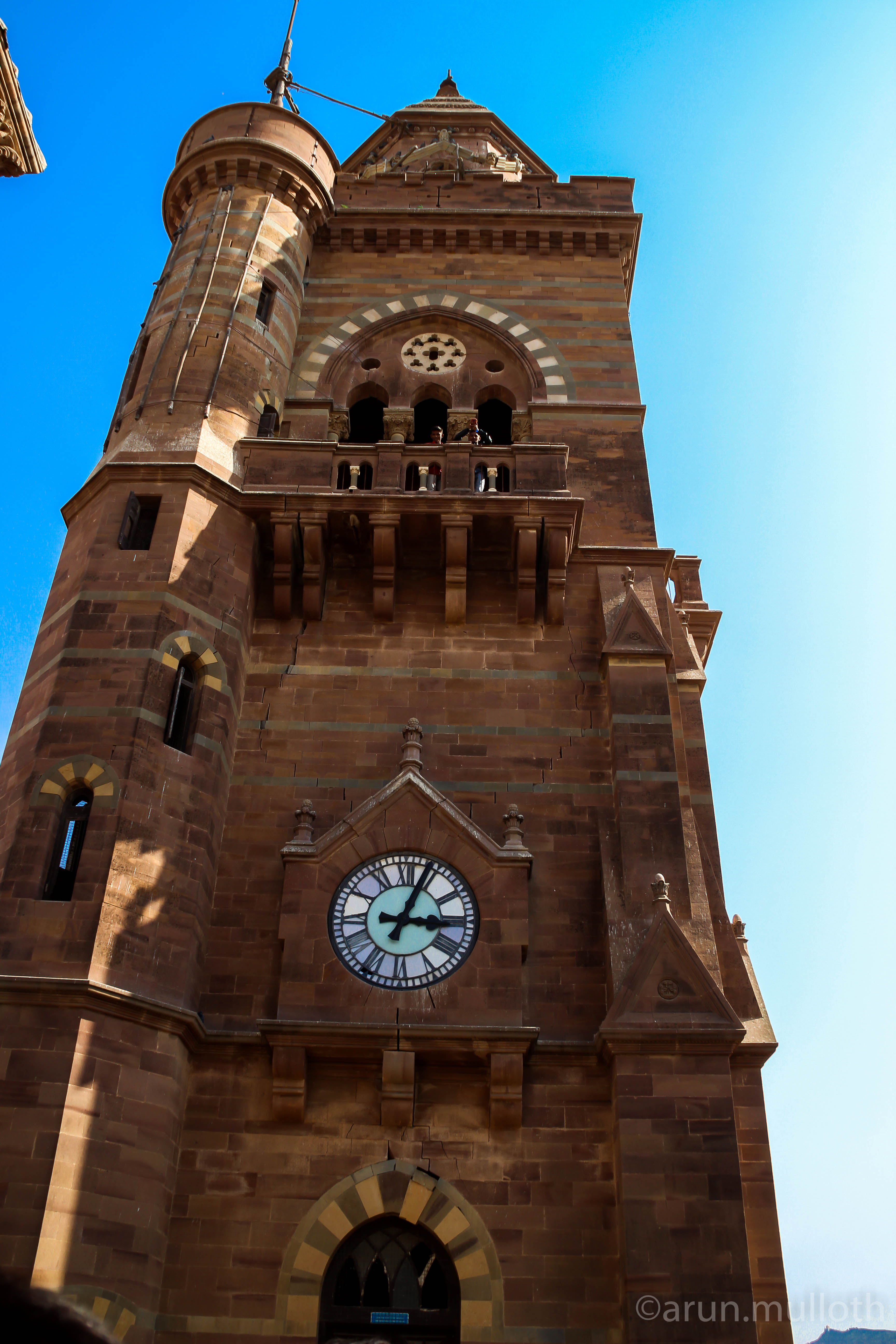 Clock tower at Prag Mahal, Bhuj