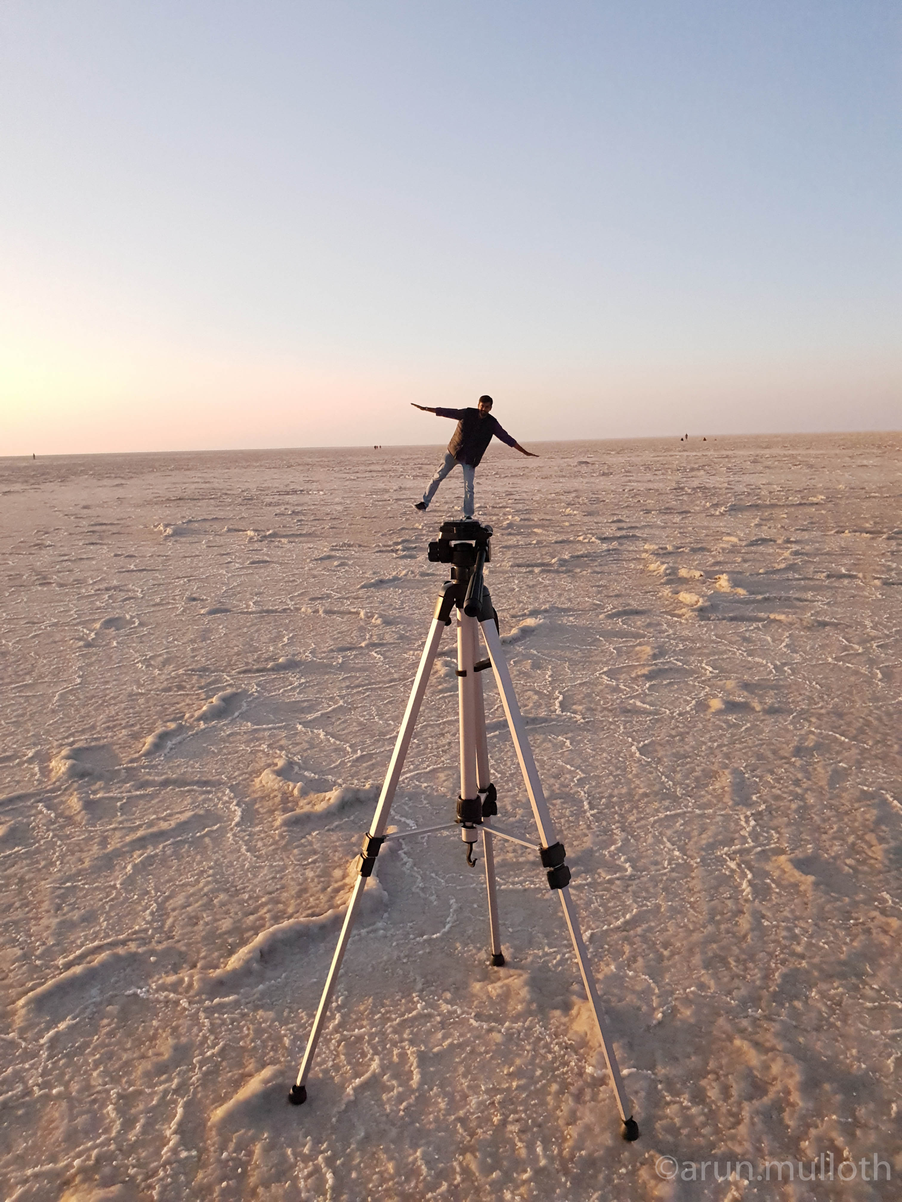 Perspective photography - Rann of Kutch